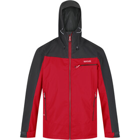 Regatta Highton Stretch Veste Shell Imperméable Homme, chinese red/ash
